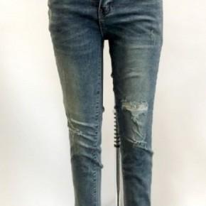 L&B Dark Wash Skinny Jeans Distressed Cuffs
