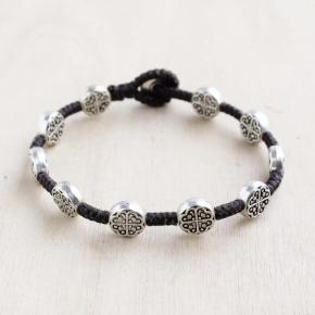 Alloy Single Strand Silver Bracelet