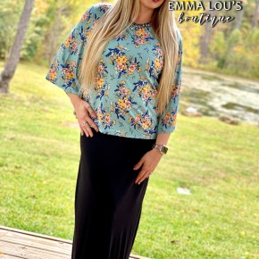 Rayon Relaxed Fit Maxi Skirt