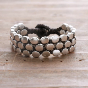 Deluxe Silver Alloy Bracelet 5 Strand