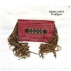 Keep It Gypsy Sloan Clutch Bag with Fringe