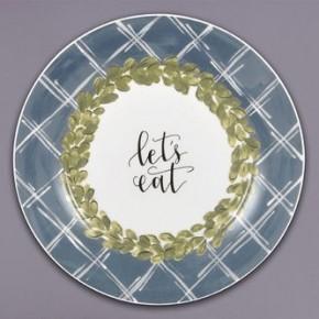 "Magnolia Lane ""Let's Eat"" 10.5"" Plate"