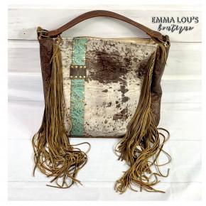 LV Rosie Teal and Cream Handbag