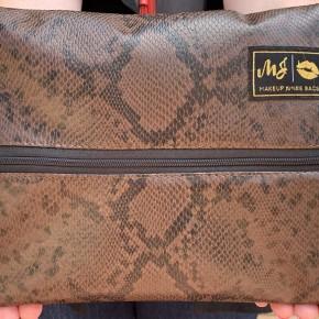 MakeUp Junkie Python Bag