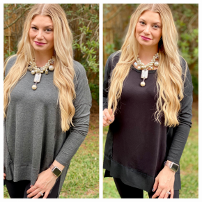 SCOOP NECK LOOSE FIT TOP