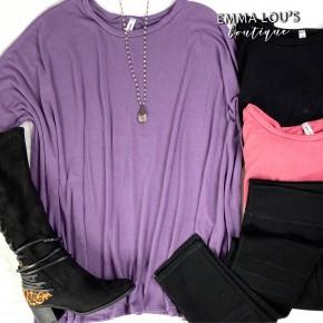 Oversized 3/4 Length Sleeves Lightweight Sweater
