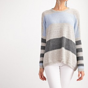 Color Block Knitted Sweater Pullover