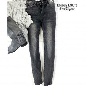Judy Blue Grey Hi Waist Cut Hem Skinny Jean