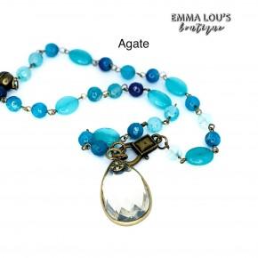 Melania Clara Short Beaded Necklace with Pendant