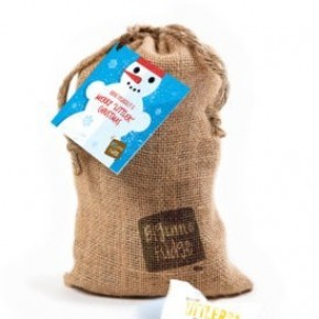 Big Little Fudge Snowman Burlap – Littlers* Mini Peanut Butter Fudge Bites