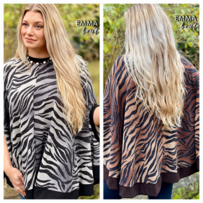 Zebra Printed Poncho