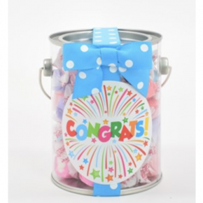 Frosted Cupcake Salt water taffy in a paint can!