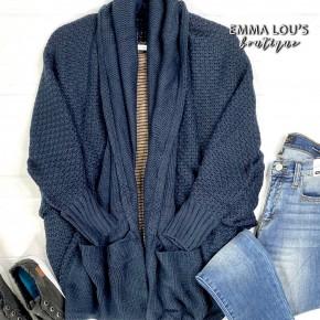 Knit Dolman Sleeve Slouch Cardigan