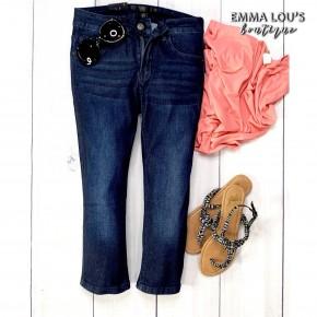 L&B Dark Wash Capri Jeans