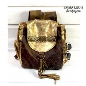 Keep It Gypsy LV Rosie Backpack Gold Maria