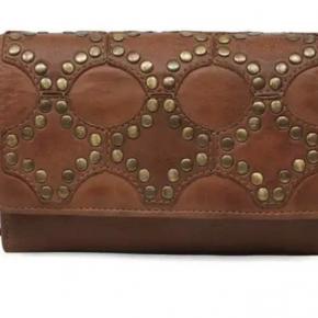 Tri-Fold Leather Detail Wallet
