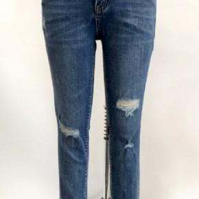 L&B Mid Wash Skinny Jeans Distressed Cuffs