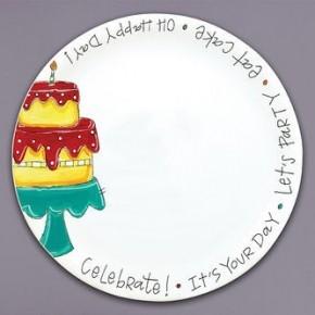 Magnolia Lane 10.5 Birthday Cake Platter