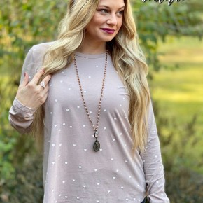 Easel All The Hearts Long Sleeve Top