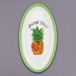 "Magnolia Lane ""Pineapple"" Oval Platter"