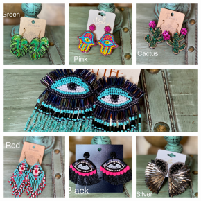 Beaded Design Earrings