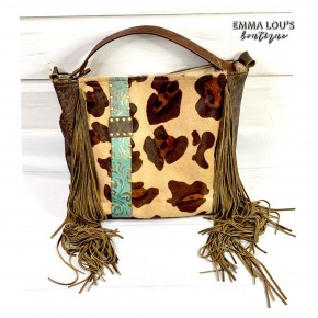 Keep It Gypsy Up-Cycled LV Rosie Cow and Teal Purse