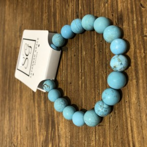 Turquoise stretch beaded bracelet