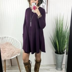Long Sleeve Basic AF Dress *Final Sale*