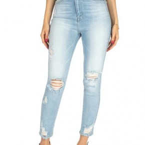HIGH RISE ANKLE SKINNY  LIGHTWASH JEAN