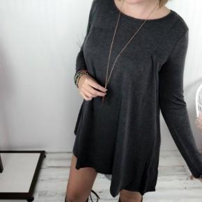Charcoal Long Sleeve Dress *Final Sale*