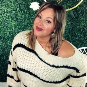#Extra Cream + Black Stripe Sweater