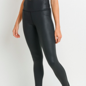 High Yoga Waist Faux Leather Leggings