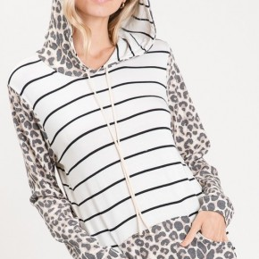 Striped Leopard Hoodie *Final Sale*