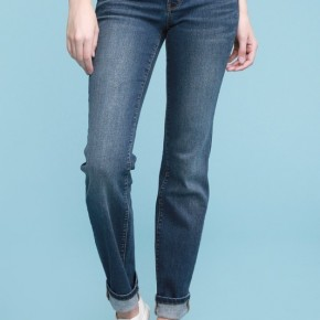 Cuffed Straight Denim