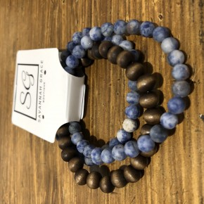 Stone & Wood Bracelet