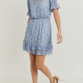 Blu Floral Dress