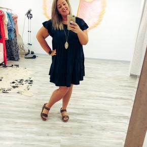 Black Ruffle Tier Dress