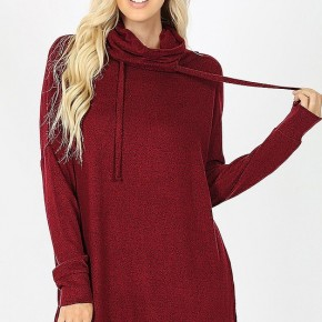 Burgundy Melange Sweater