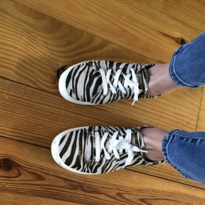 Metallic Zebra Sneakers