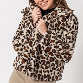 Leopard Furry Jacket