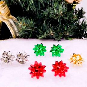 Christmas Bow Stud Earrings