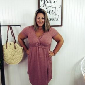 Heathered Wrap Dress