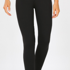 Black Premium Microfiber Full Length Leggings