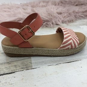 Coral Wedge Sandal