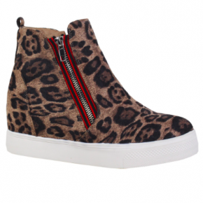 The Coolest Leopard Wedge Sneakers *Final Sale*