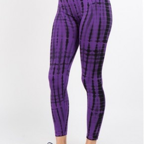Purple Tie Dye Leggings