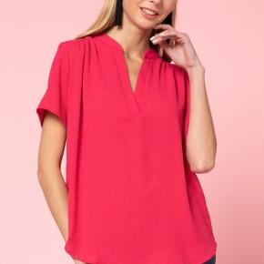 Pink V Neck Dress Top