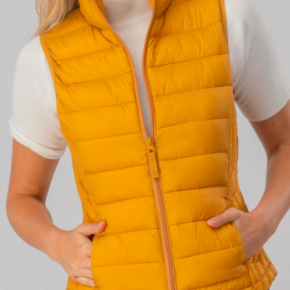 ULTRA LIGHT ZIP UP PUFFER VEST
