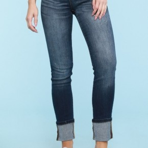 Straight Cut Cuffed Denim