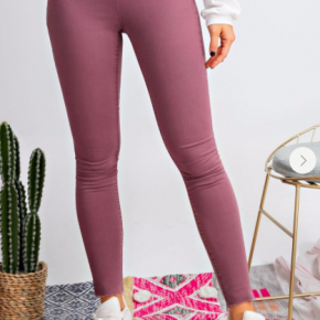 Faded Plum Washed Denim Leggings *Final Sale*